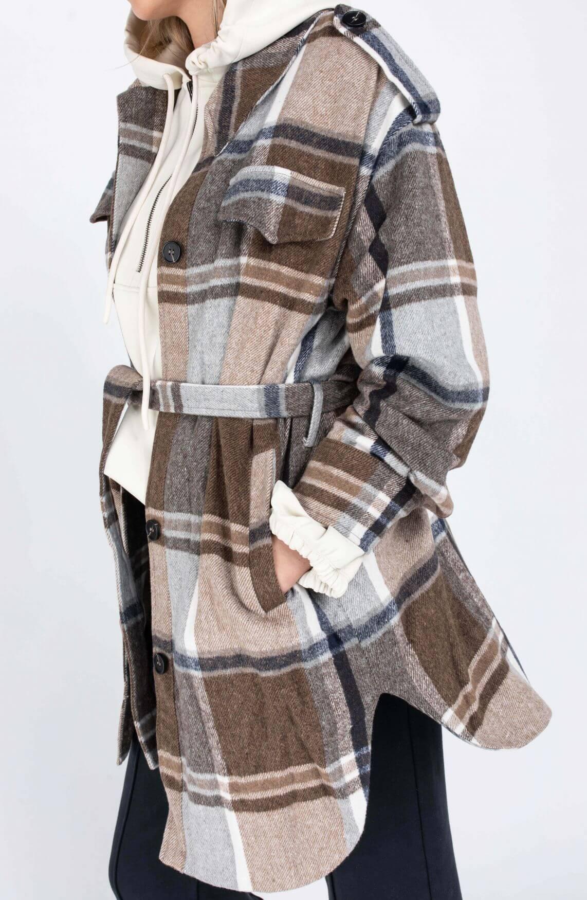 Co Couture Dames Maximilian overshirt Bruin