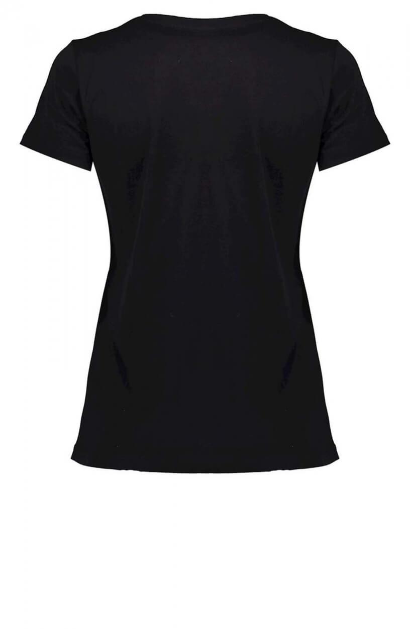 Geisha Dames Shirt met tekstprint Zwart
