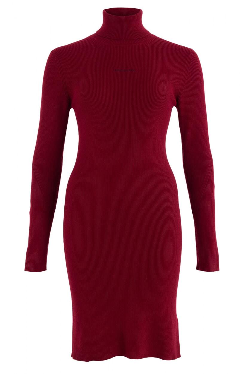 Calvin Klein Dames Gebreide jurk Rood