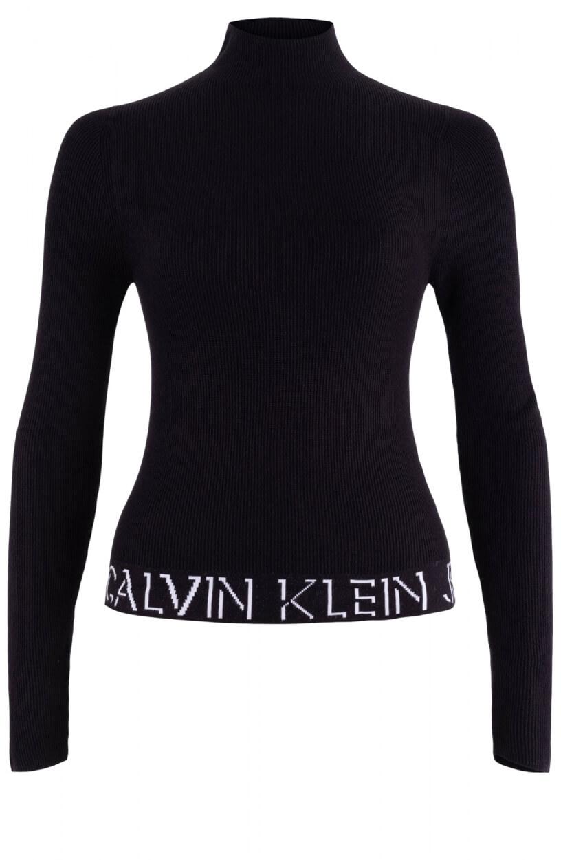 Calvin Klein Dames Trui met logo Zwart