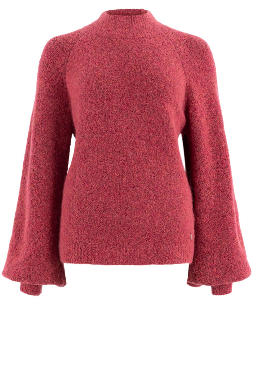 Anna Dames Boucle pullover Roze