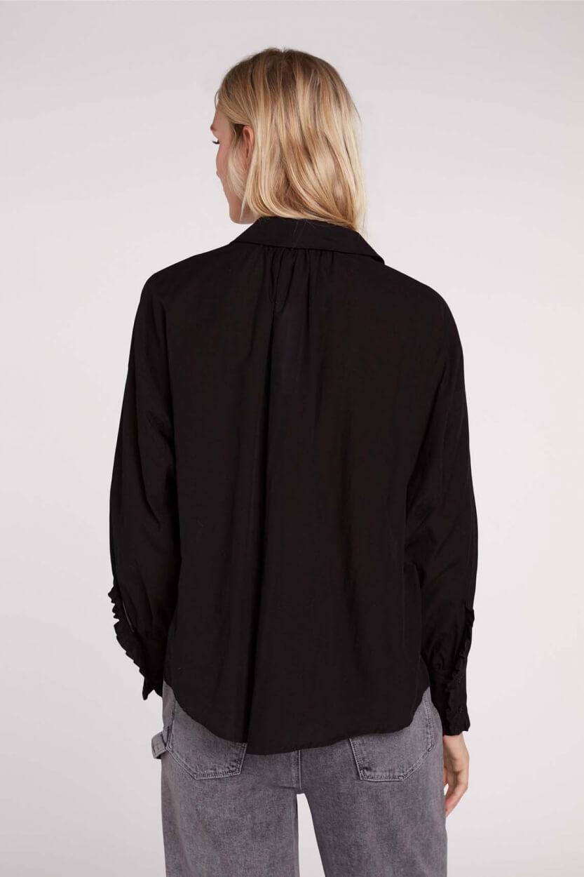 Set Dames Blouse met cashmere Zwart