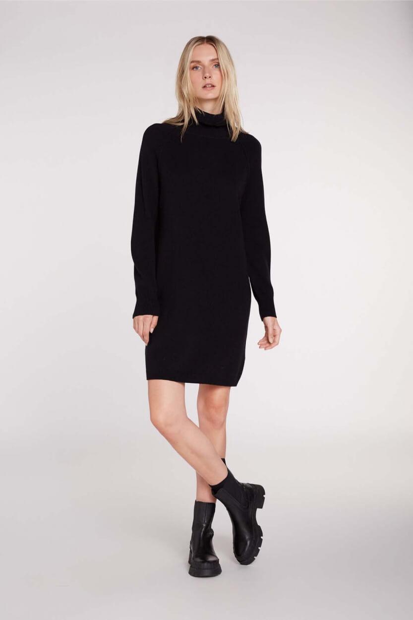Set Dames Gebreide jurk Zwart