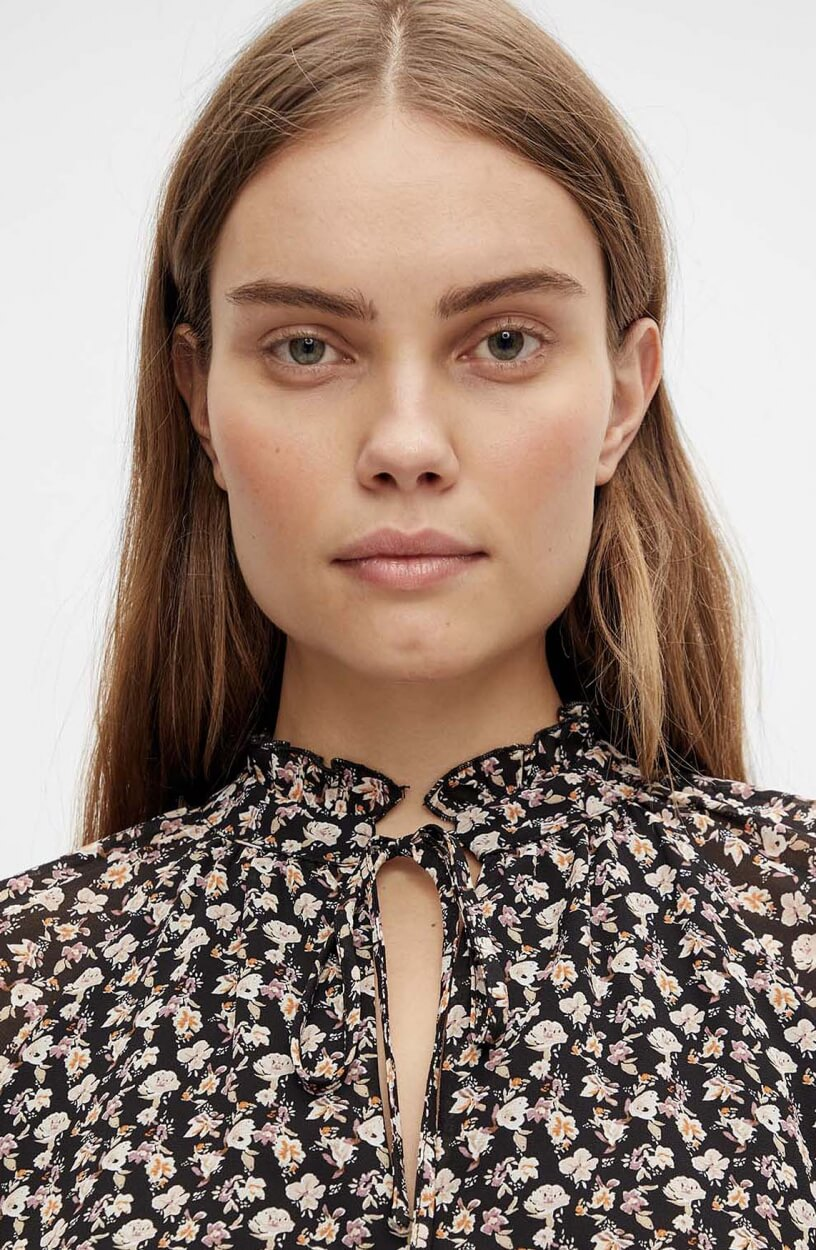Object Dames Mila blouse Zwart
