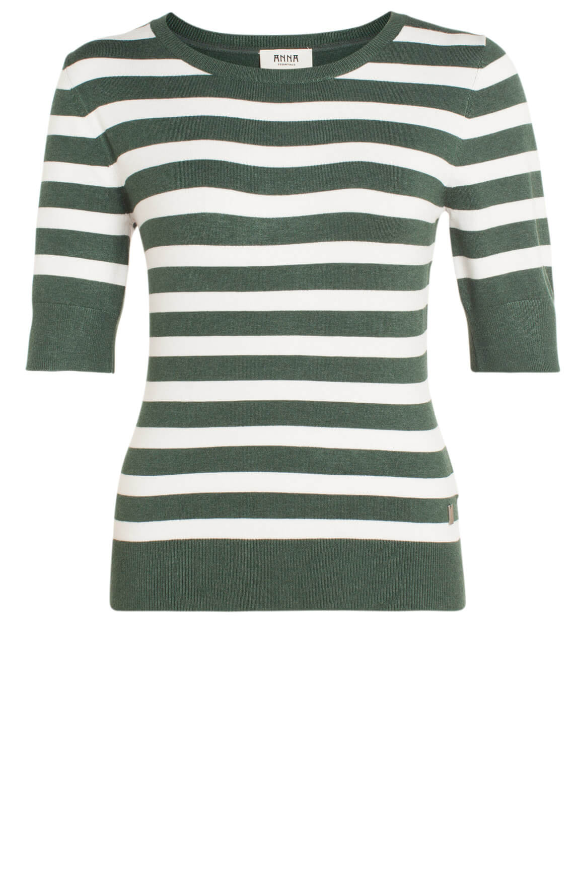 Anna Dames Gestreepte pullover groen
