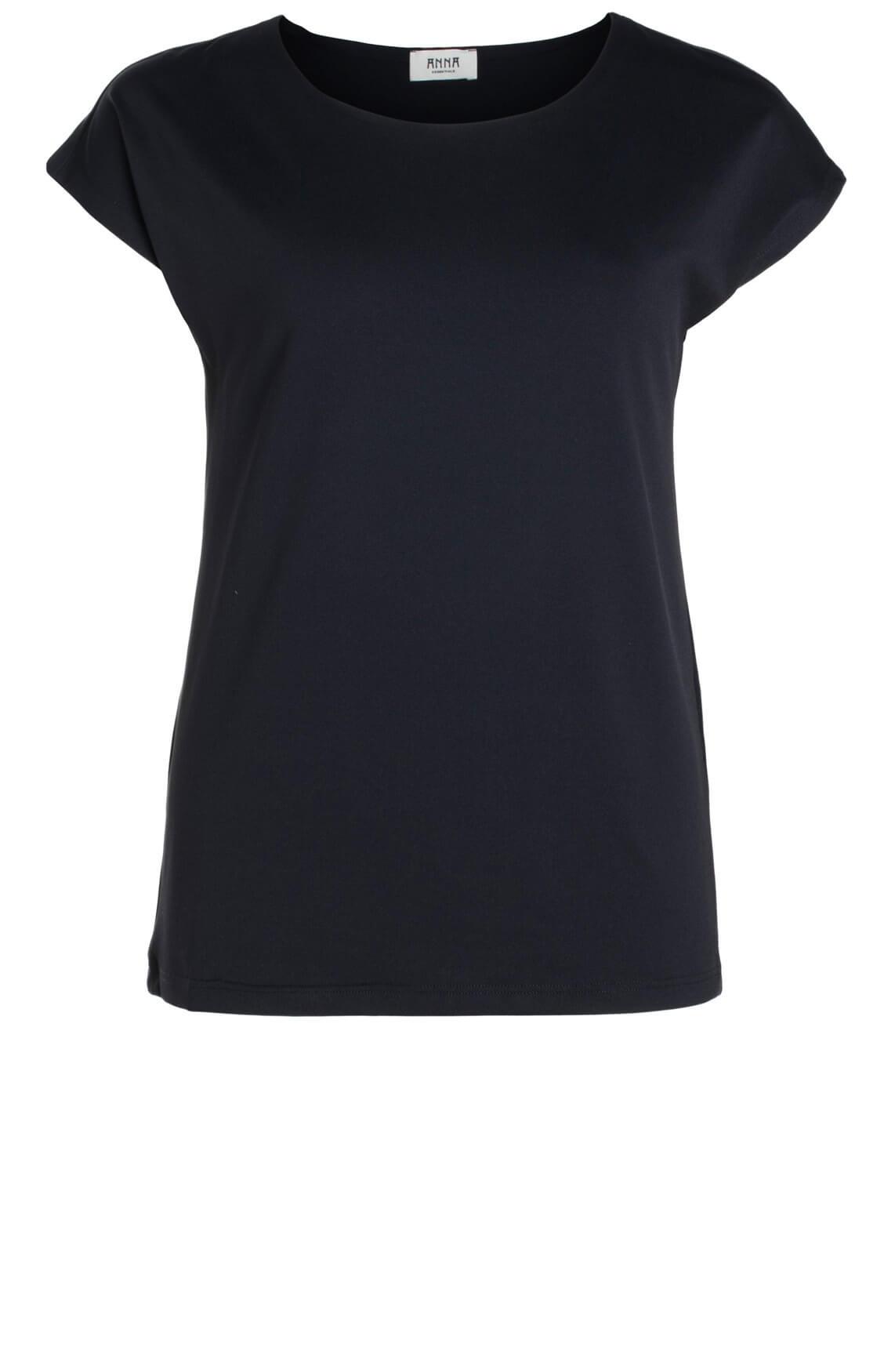 Anna Dames Shirt met seamless hals zwart