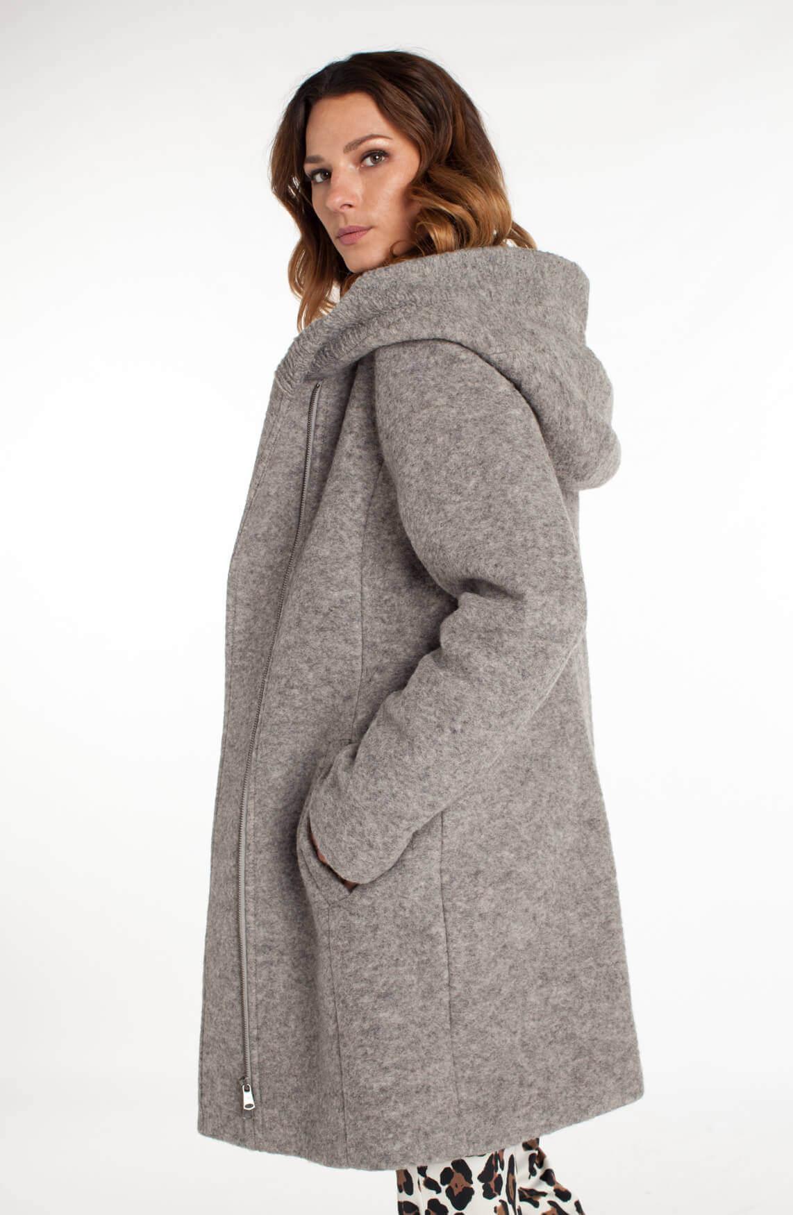 Uitgelezene Beaumont Dames Wollen mantel Grijs   Jassenboutique VB-25