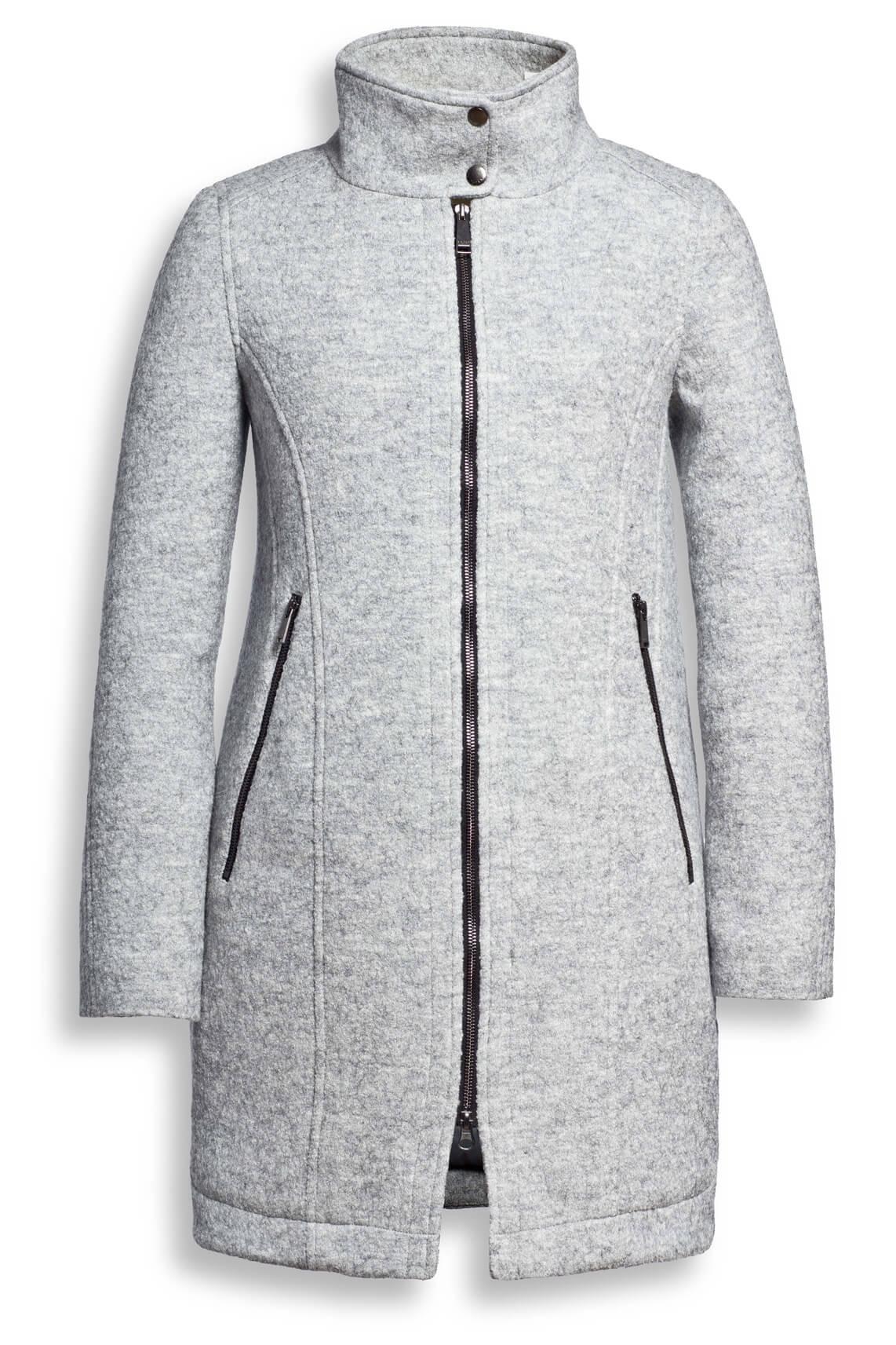Wollen mantel grijs