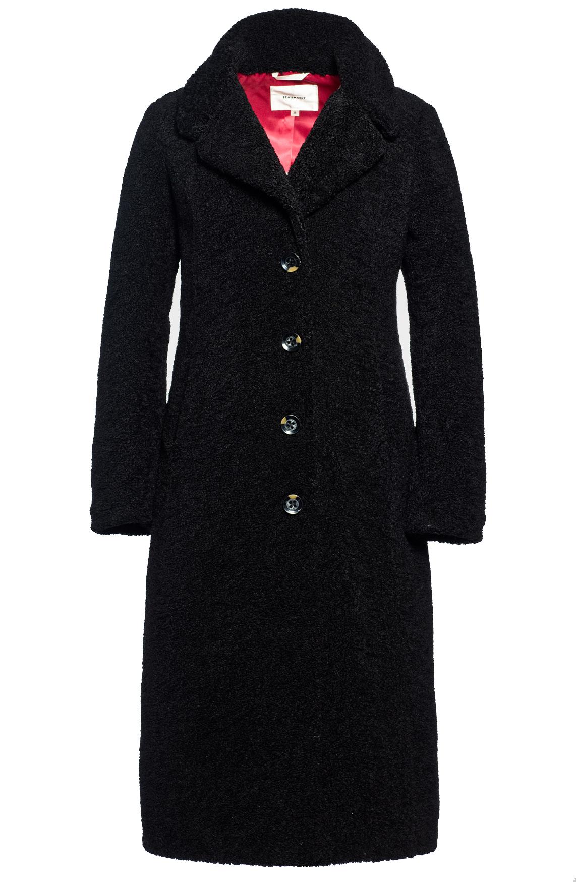 Beaumont Dames Teddy mantel zwart