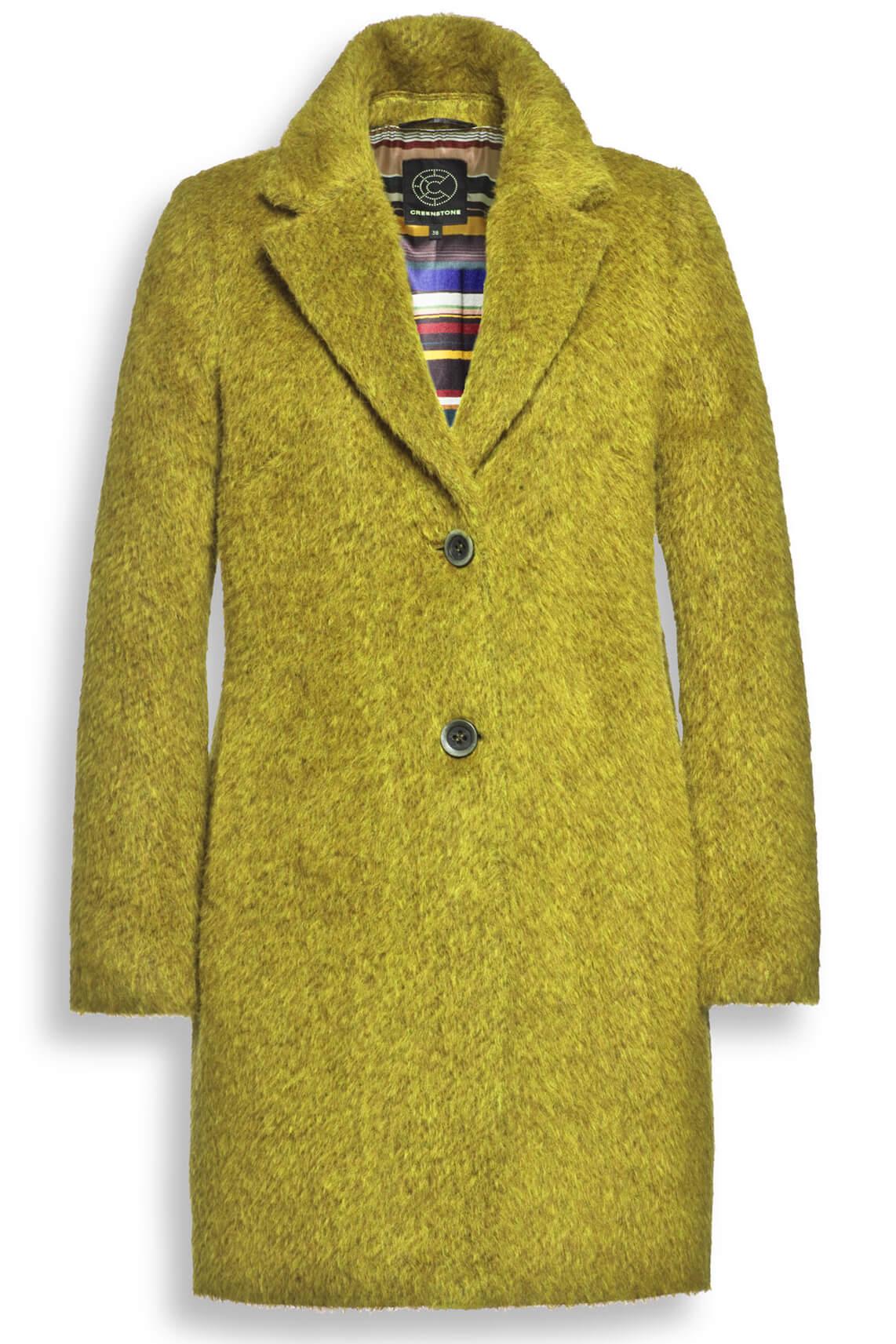 Creenstone Dames Wollen mantel geel