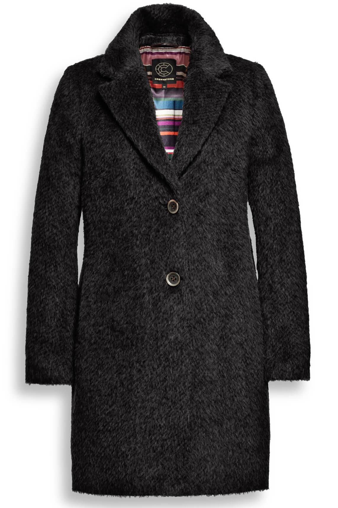 Creenstone Dames Wollen mantel zwart