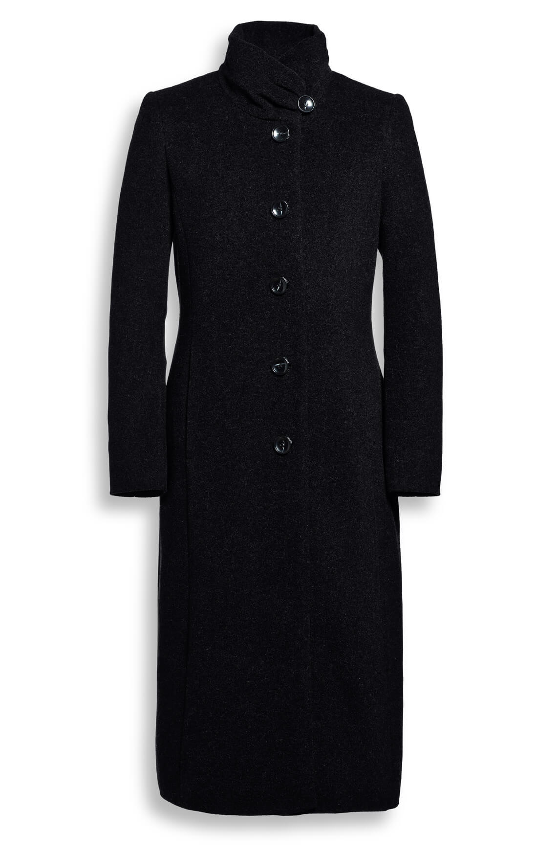 lange mantel zwart dames