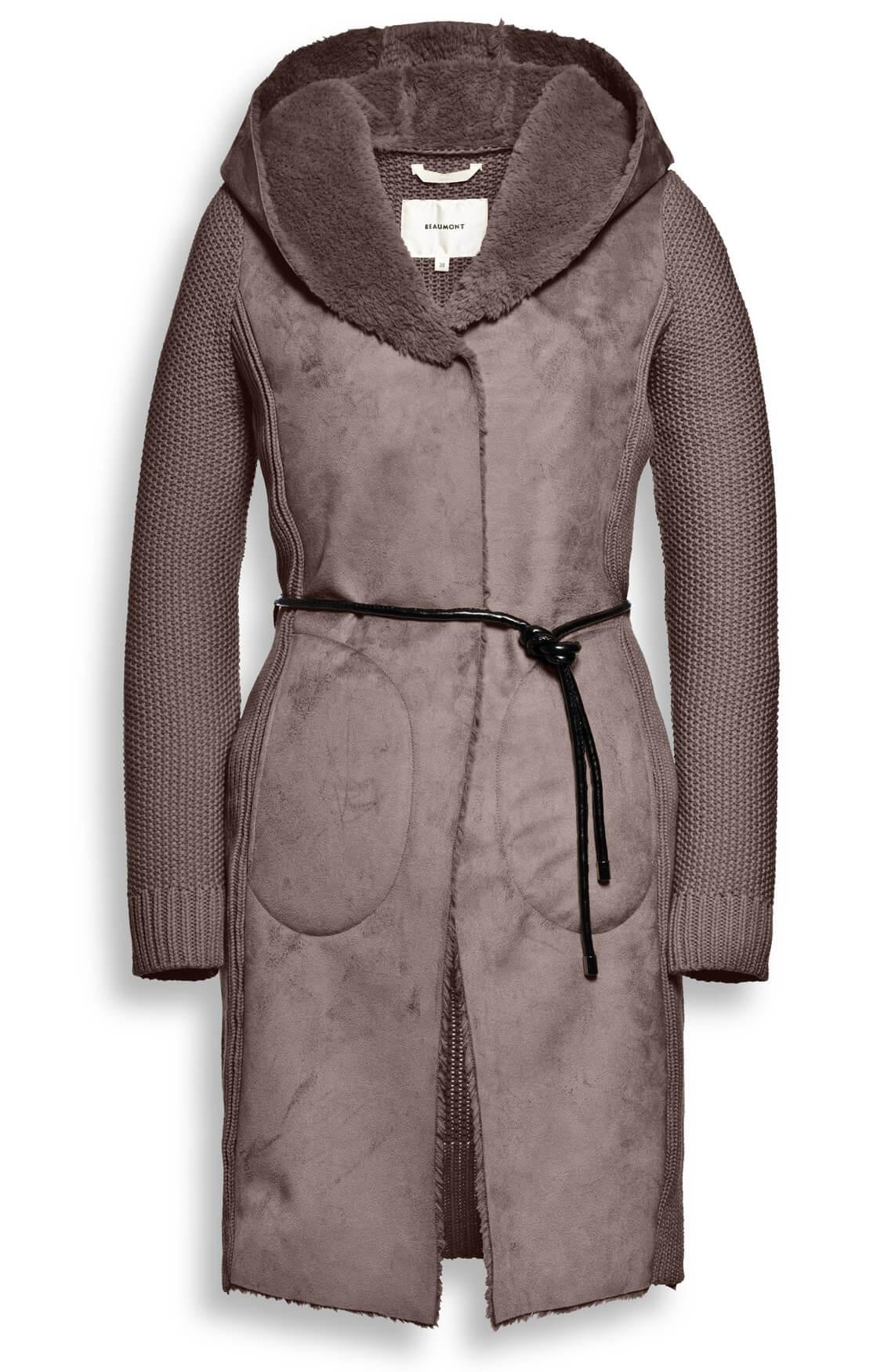 Beaumont Dames Vest met fake fur kraag Bruin