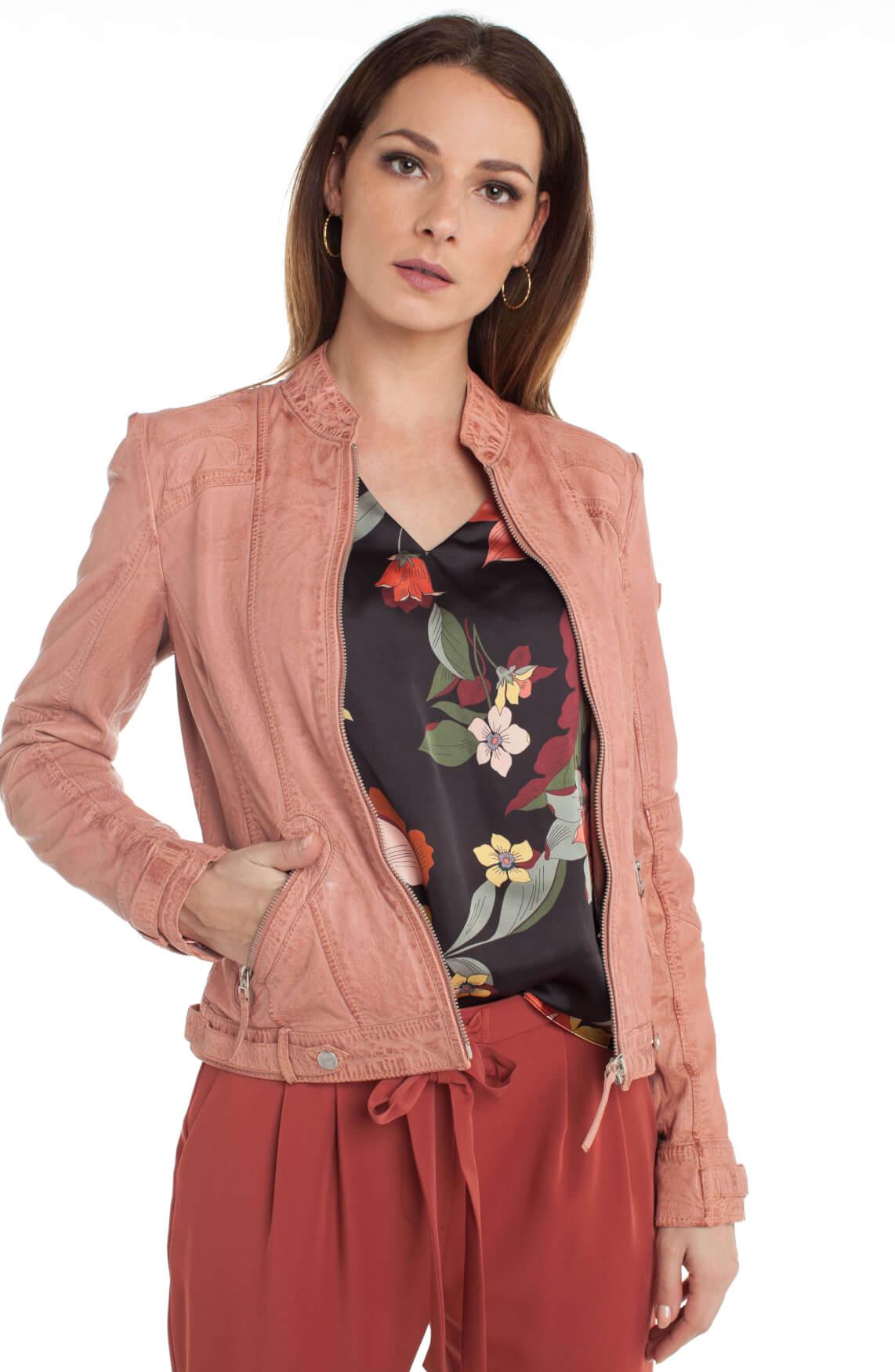Gipsy Dames Macy leren jack roze