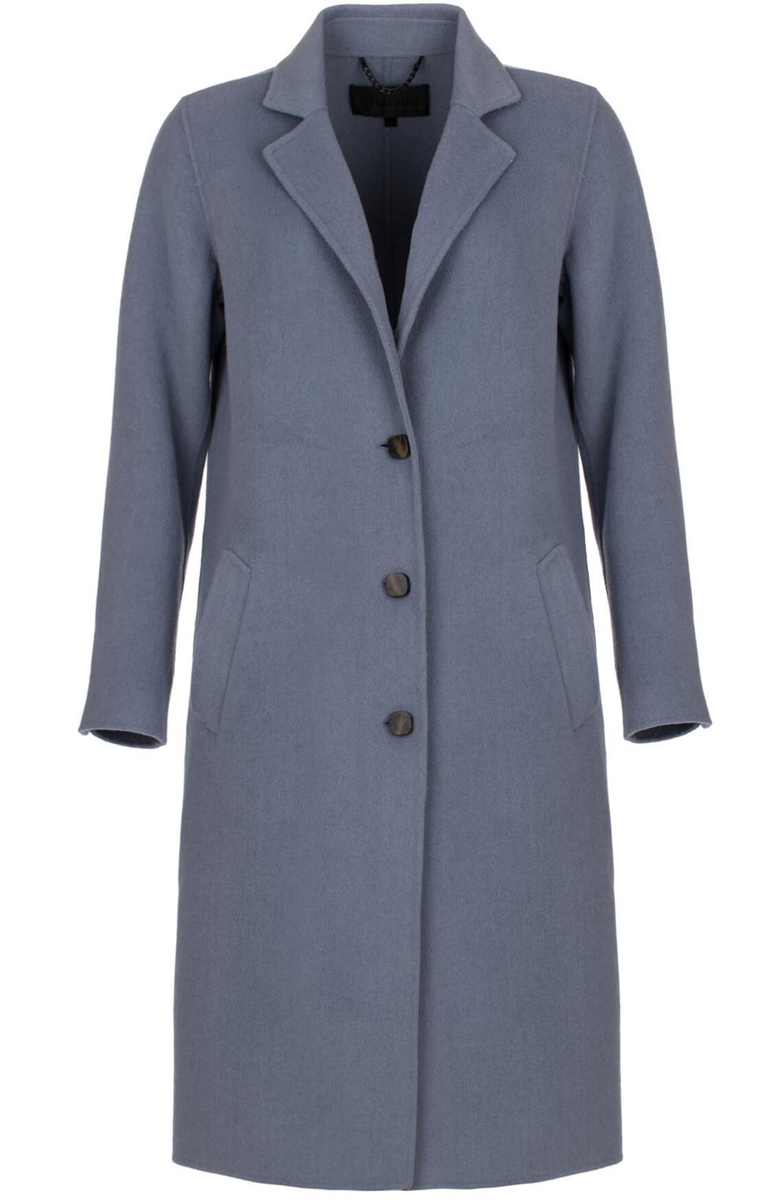 Giacomo Dames Klassieke mantel Blauw