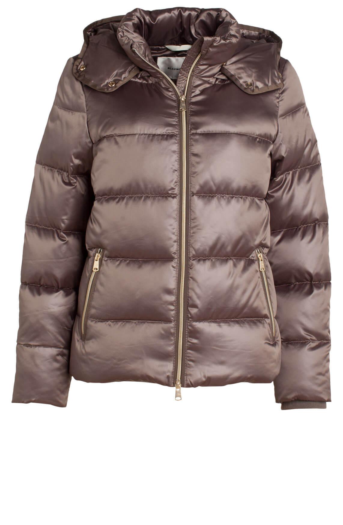 Beaumont Dames Gewatteerde jas met capuchon Bruin