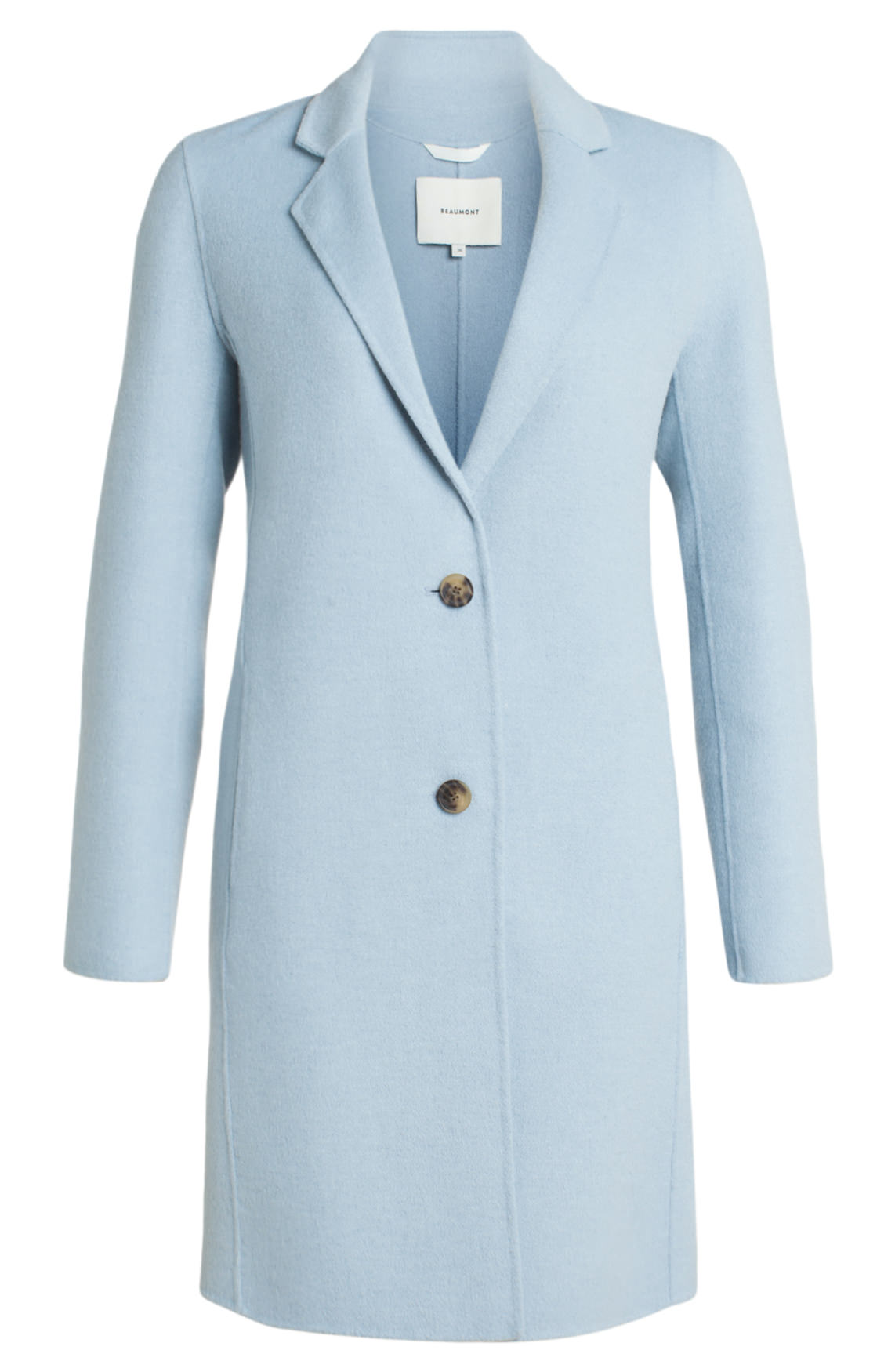 Goede Beaumont Dames Lange wolmix mantel Blauw | Jassenboutique XT-95