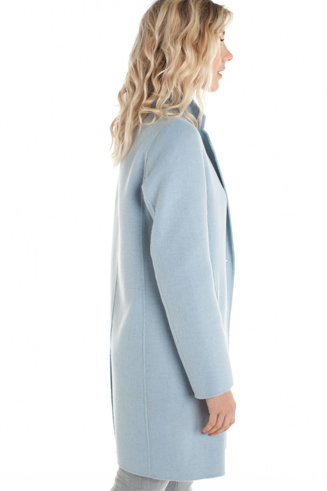 Goede Beaumont Dames Lange wolmix mantel Blauw | Jassenboutique WU-16