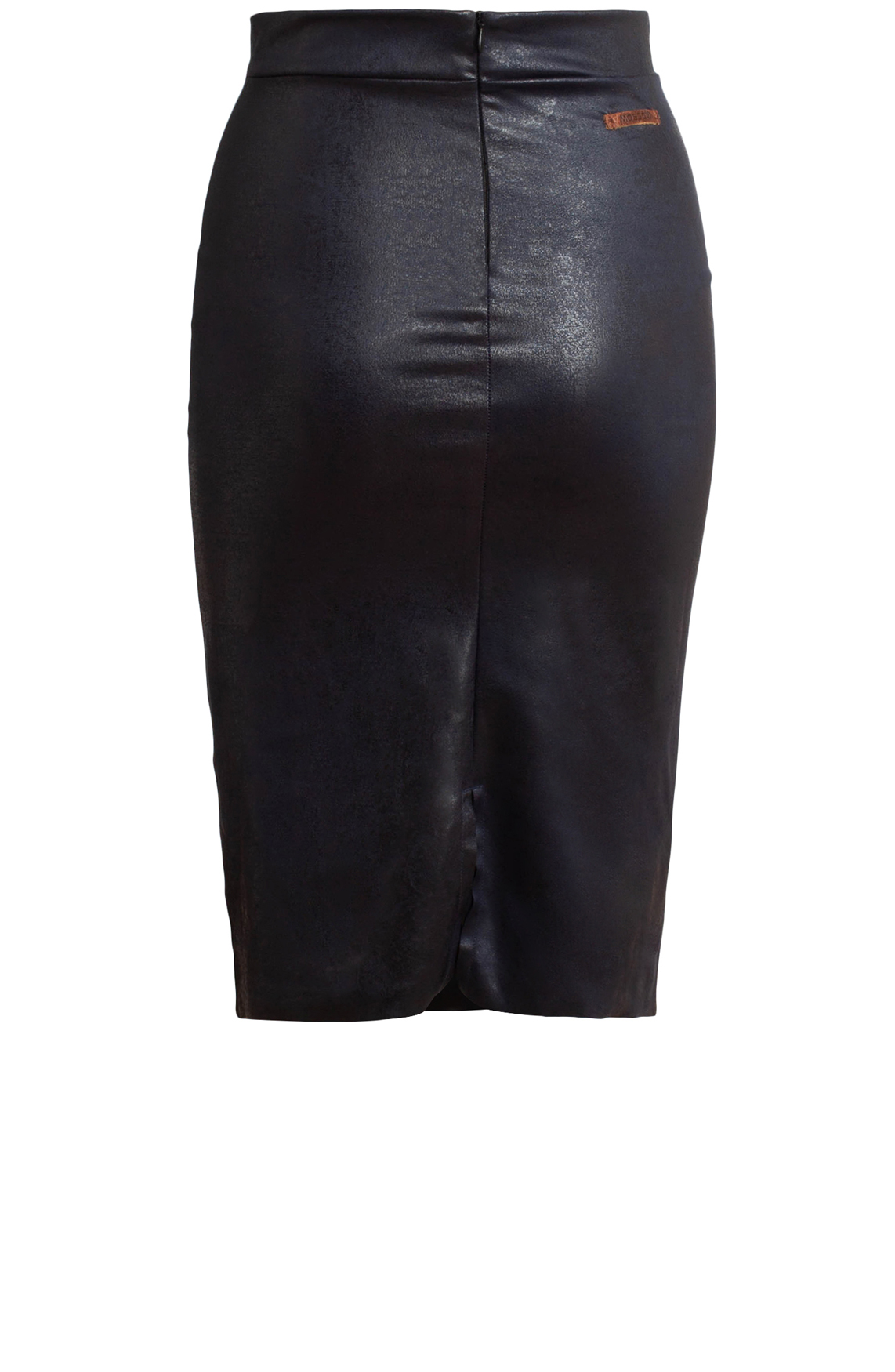 Moscow Dames fake-leather midi skirt Blauw