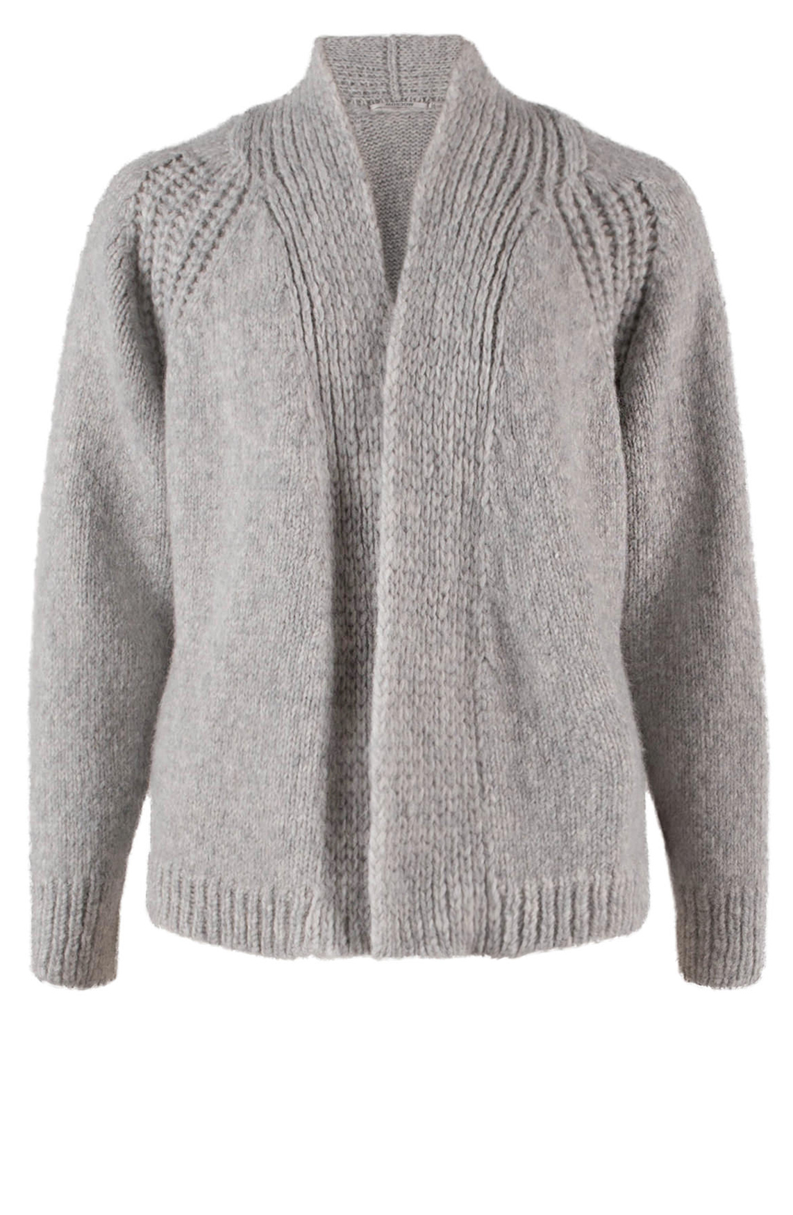 Moscow Dames Short knitted cardigan Grijs
