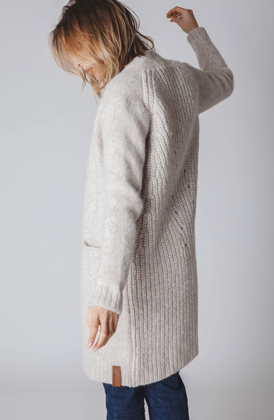 Moscow Dames Knitted vest Ecru
