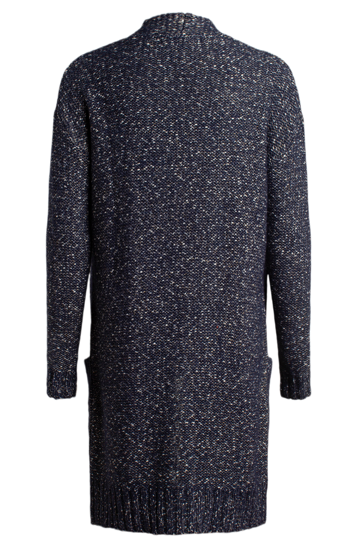Moscow Dames Mottled colored cardigan Blauw