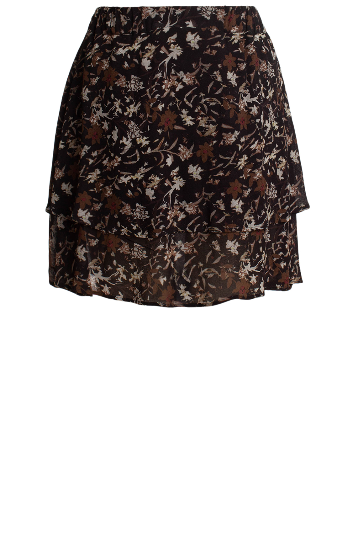 Moscow Dames Skirt with floral print Bruin