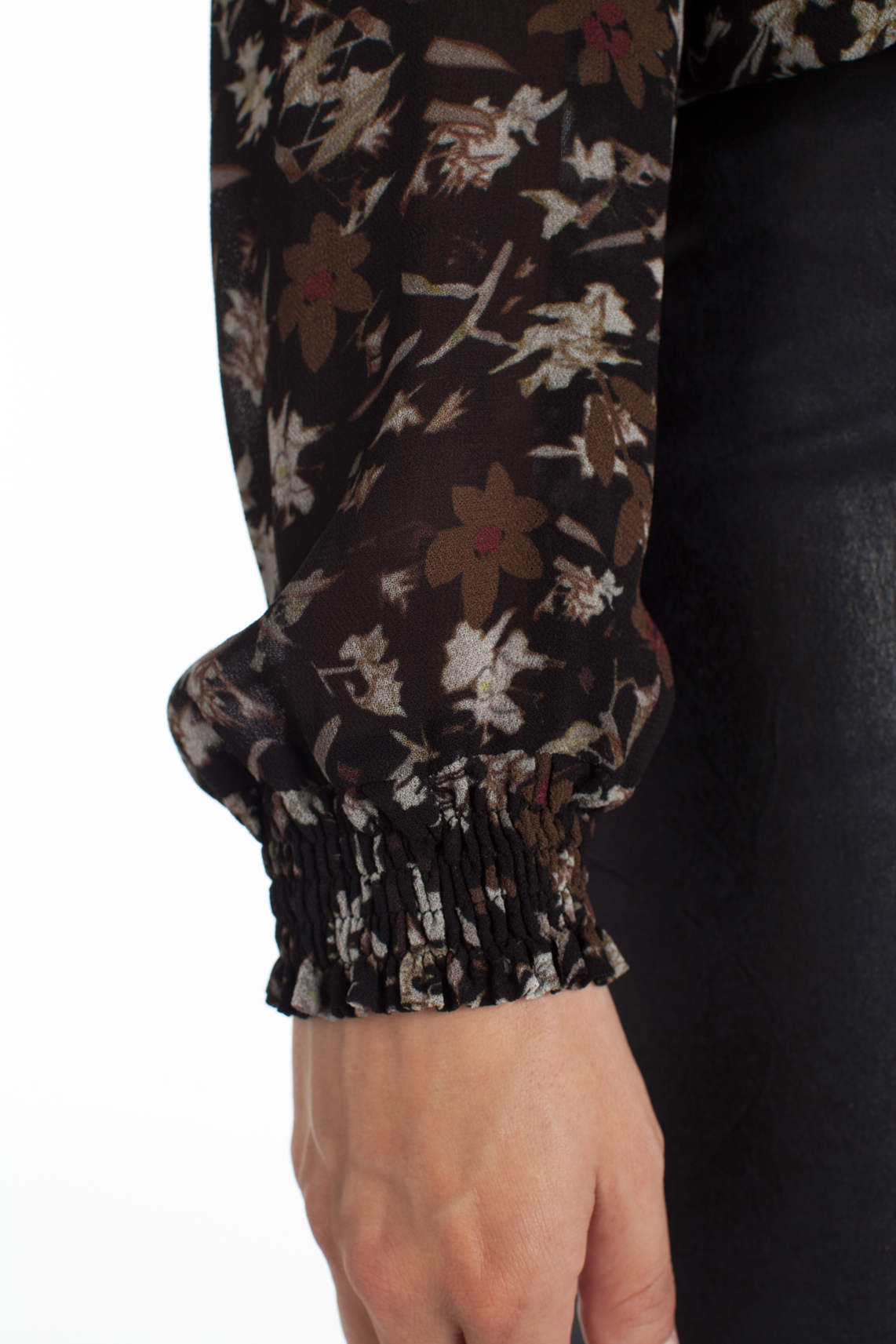 Moscow Dames Blouse with floral print Bruin