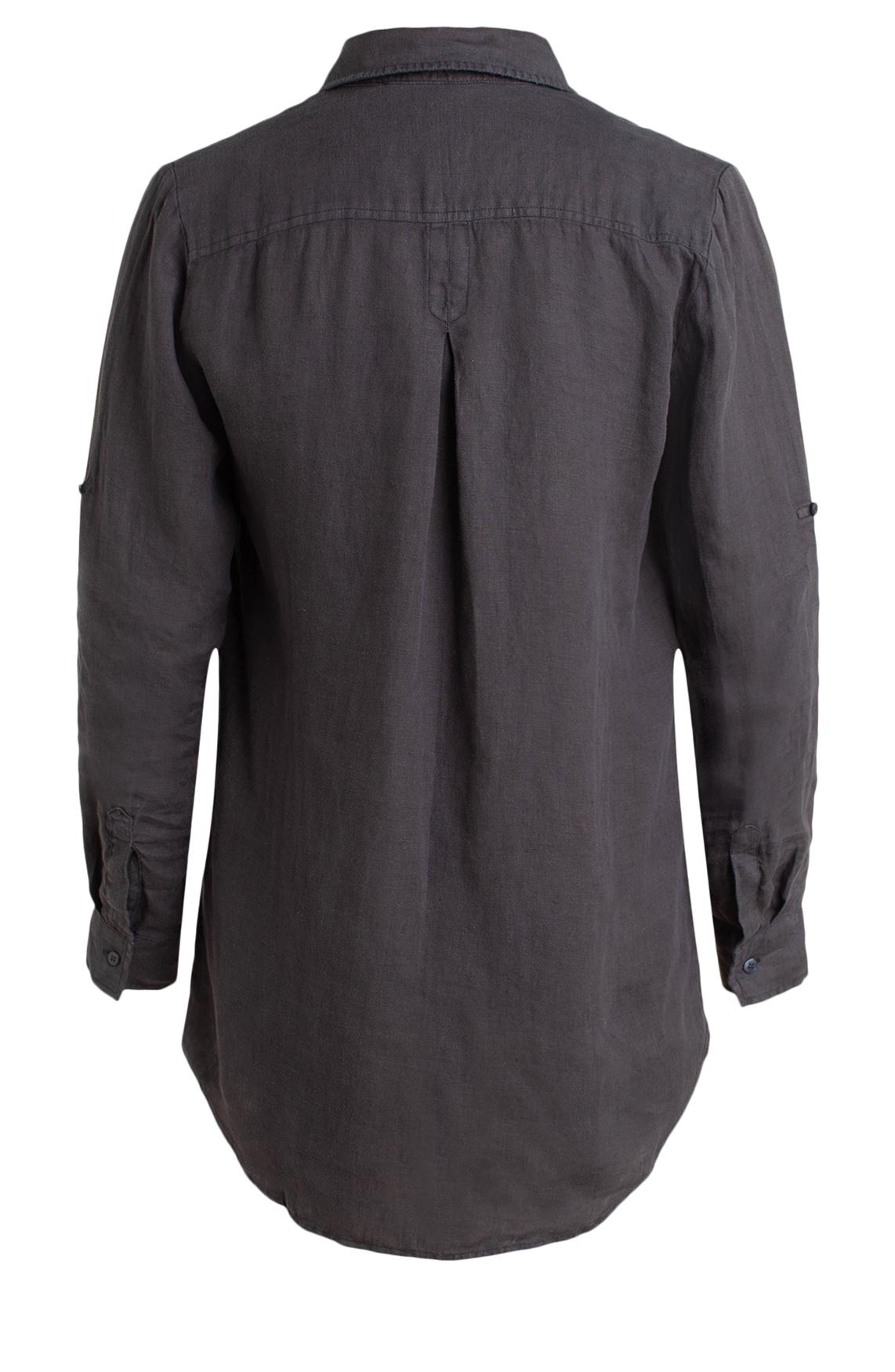 Moscow Dames Linnen blouse Grijs