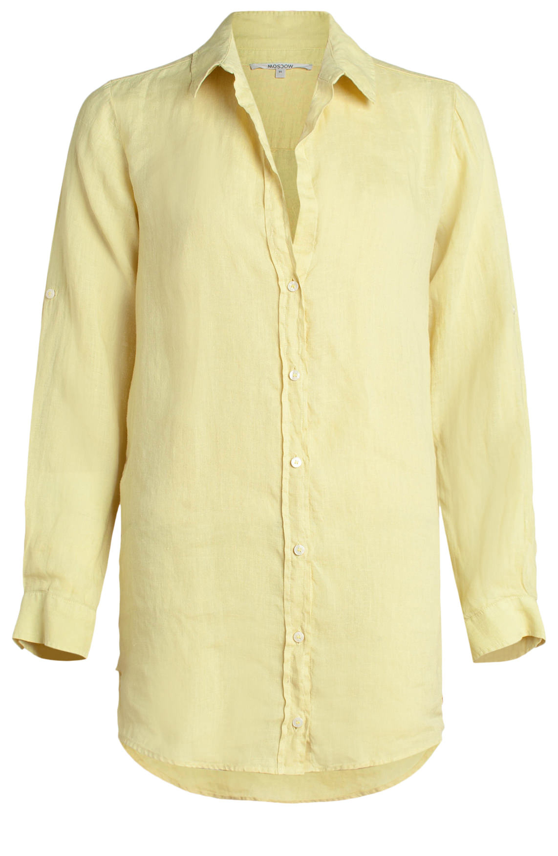 Moscow Dames Linen blouse geel