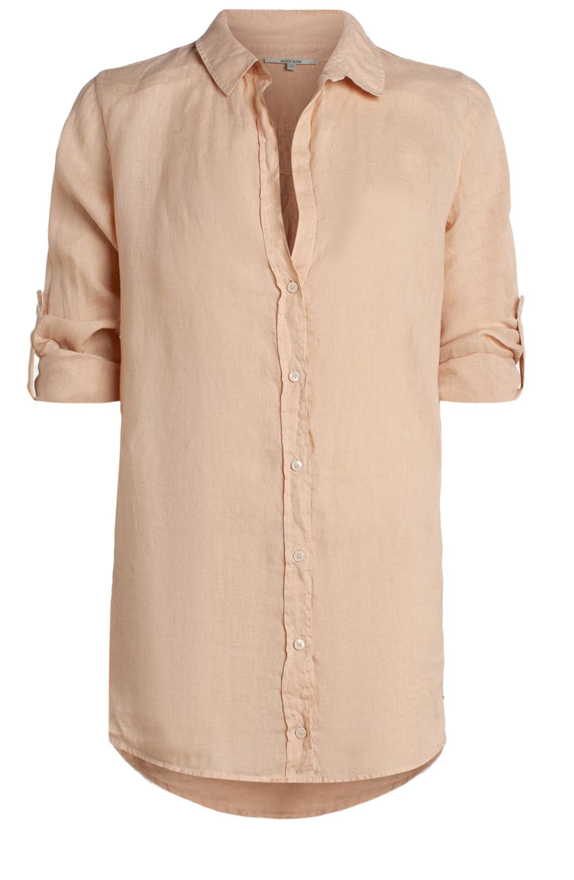 Moscow Dames Linnen blouse roze