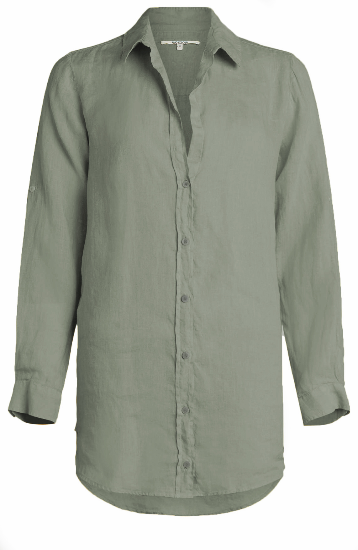 Moscow Dames Linnen blouse groen