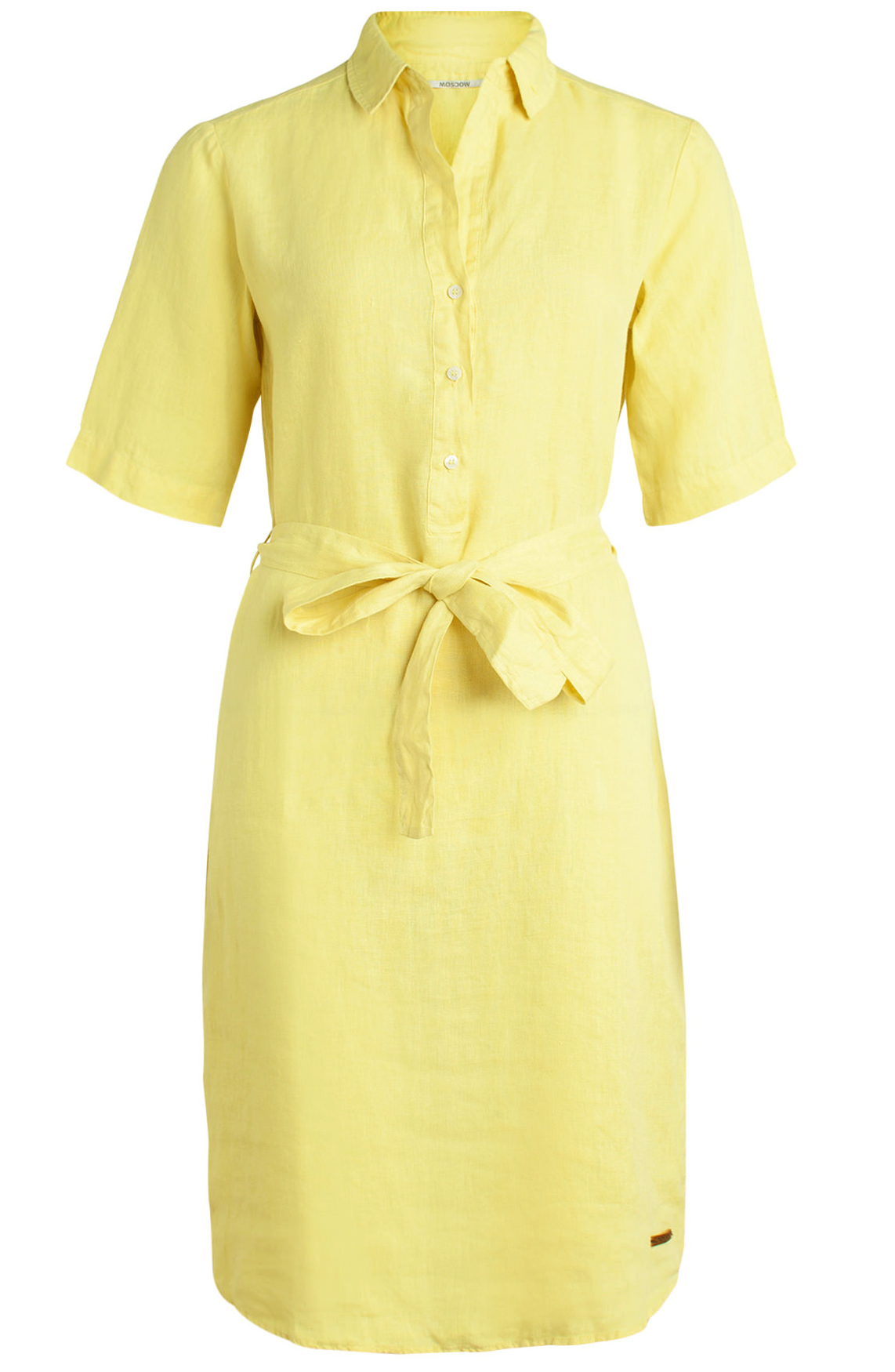 Moscow Dames Dress with belt geel