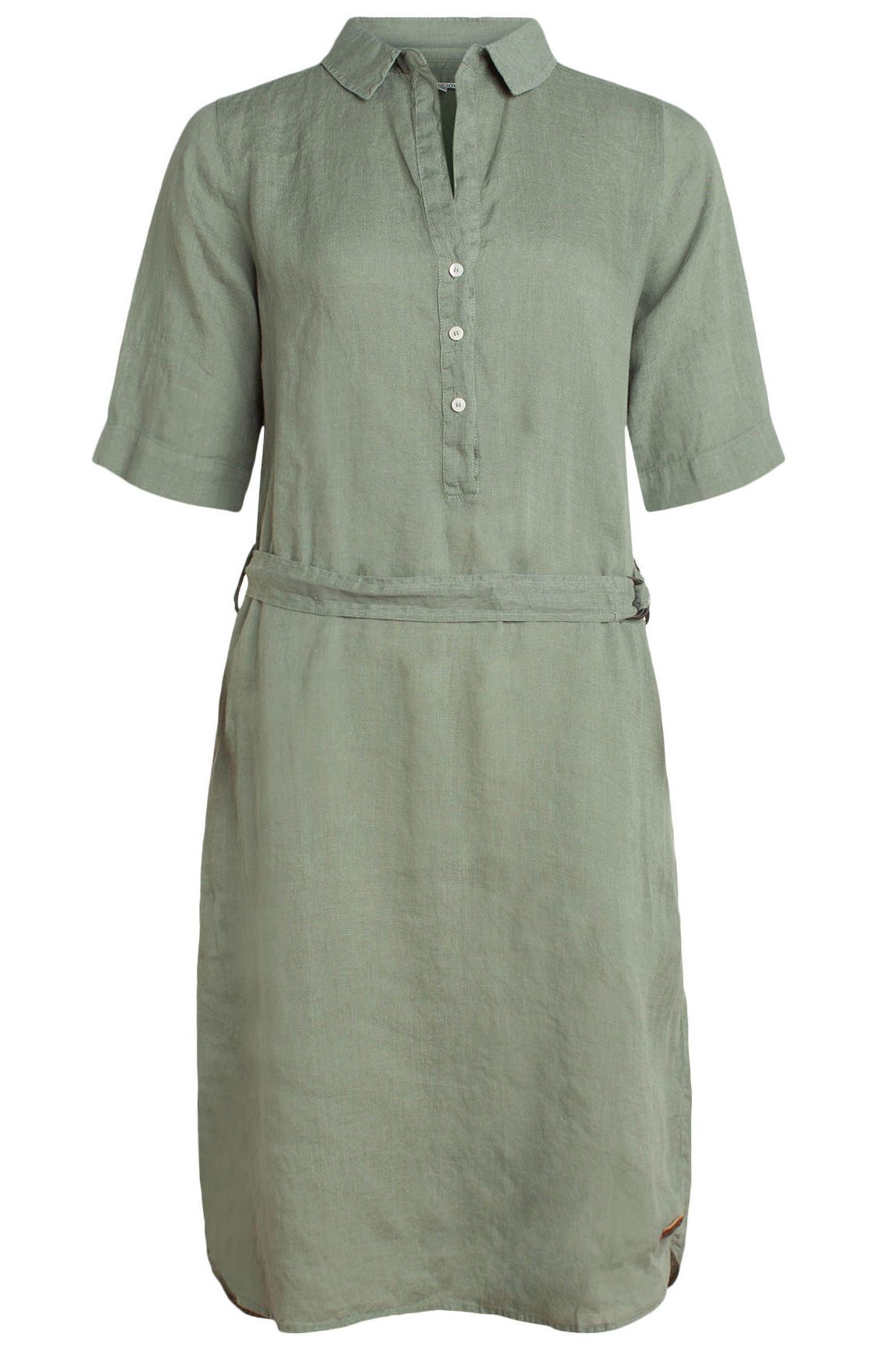 Moscow Dames Dress with belt groen