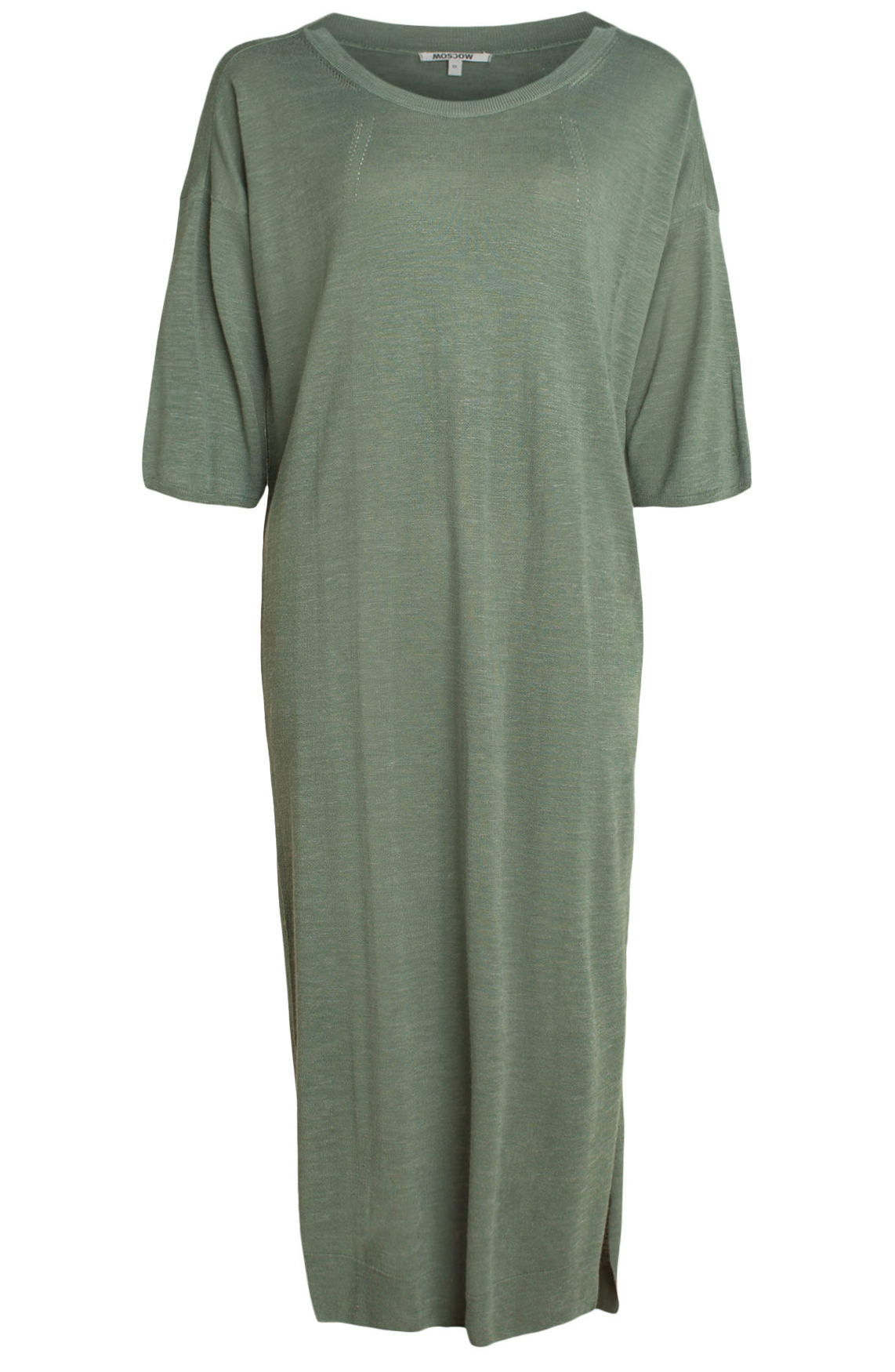 Moscow Dames Dress with short-sleeves groen