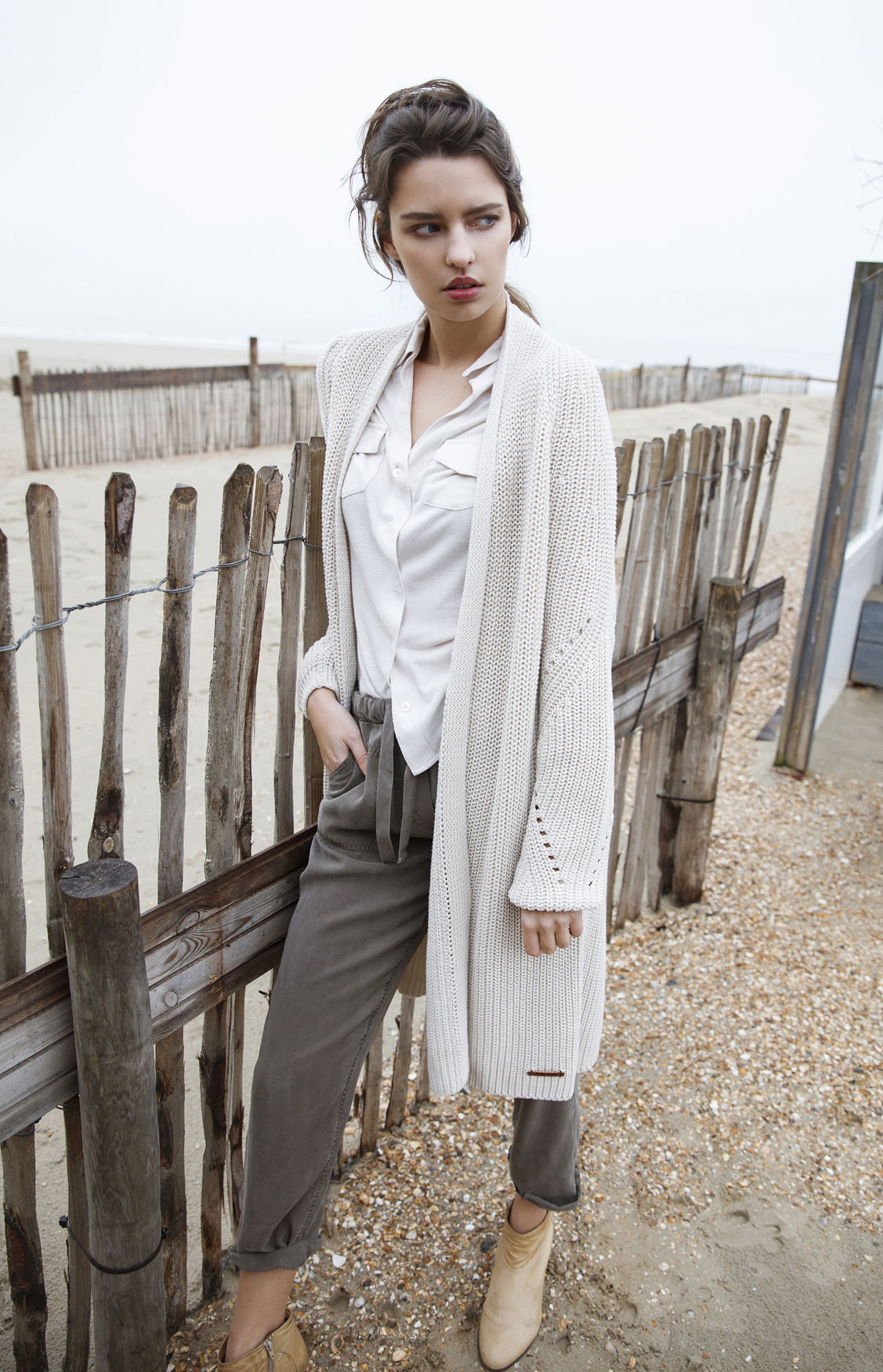 Moscow Dames Knitted cardigan Ecru