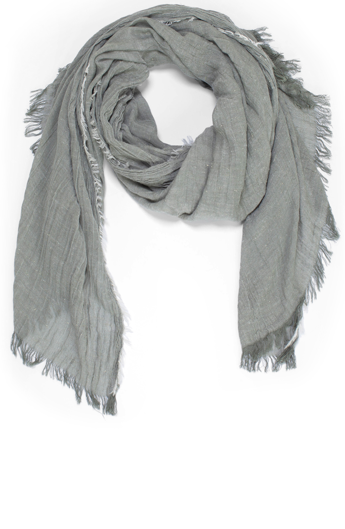 Moscow Dames Scarf with lurex groen
