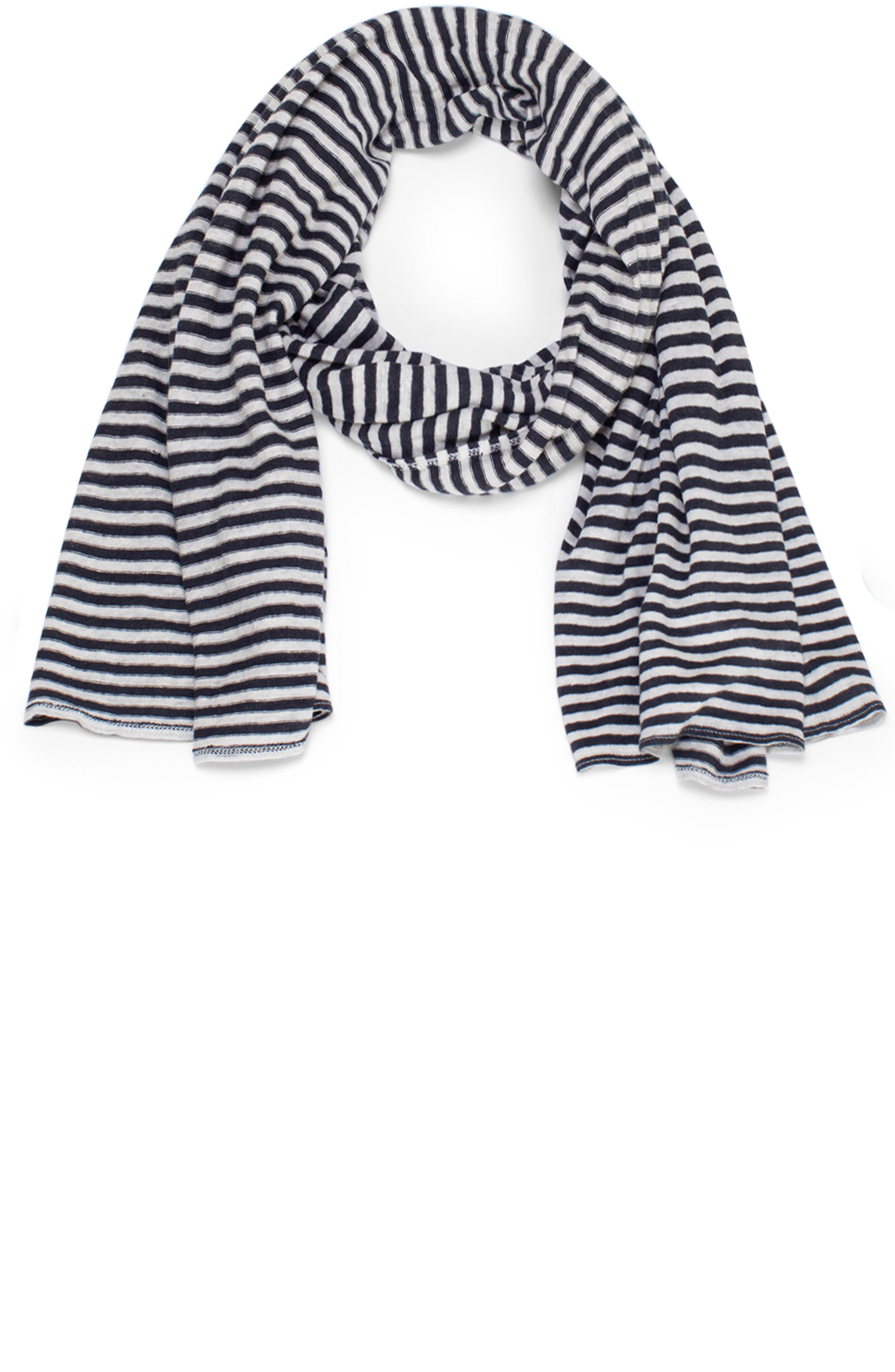 Moscow Dames Stroped scarf Blauw