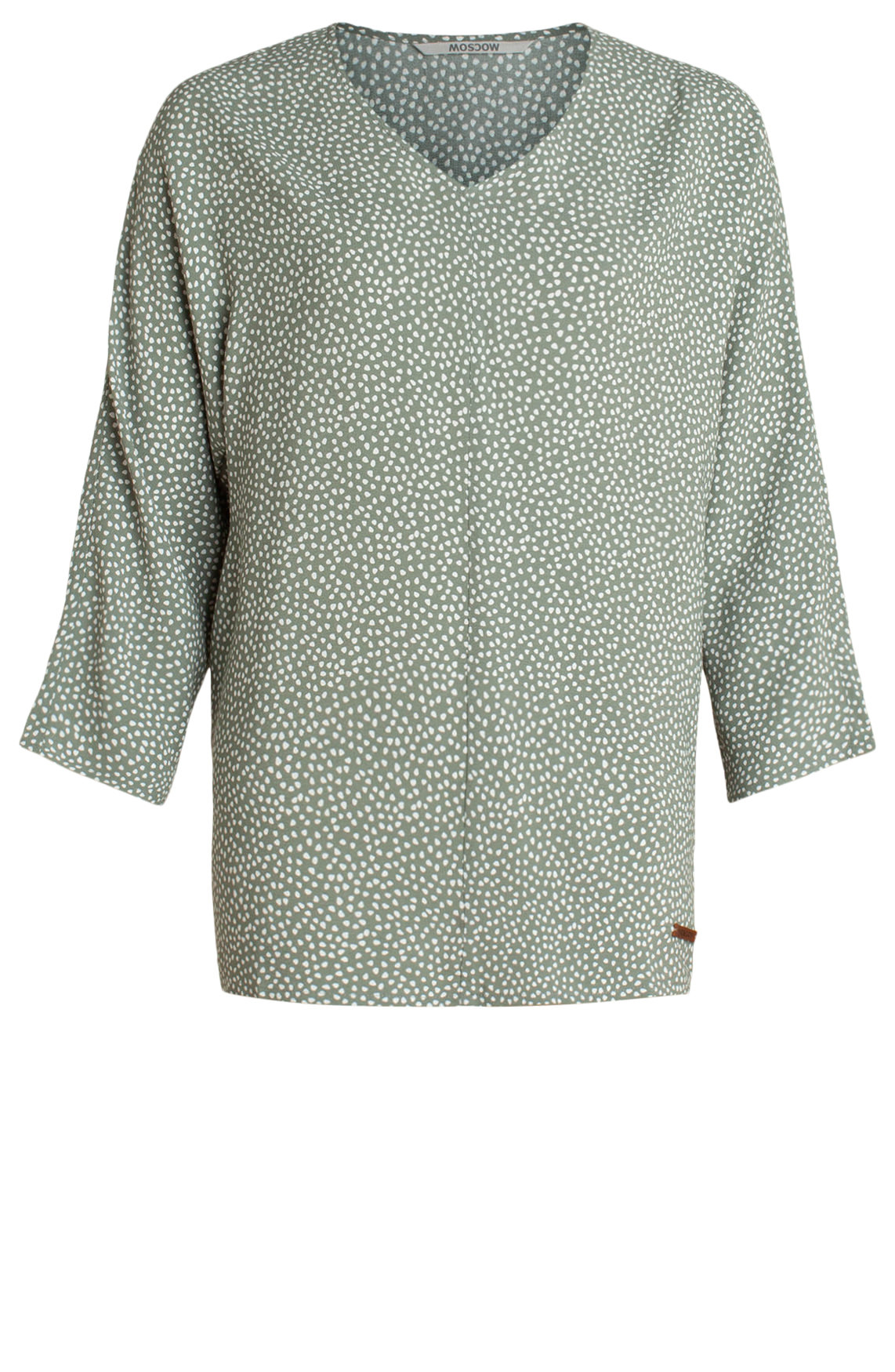 Moscow Dames Blouse with polka dot print groen