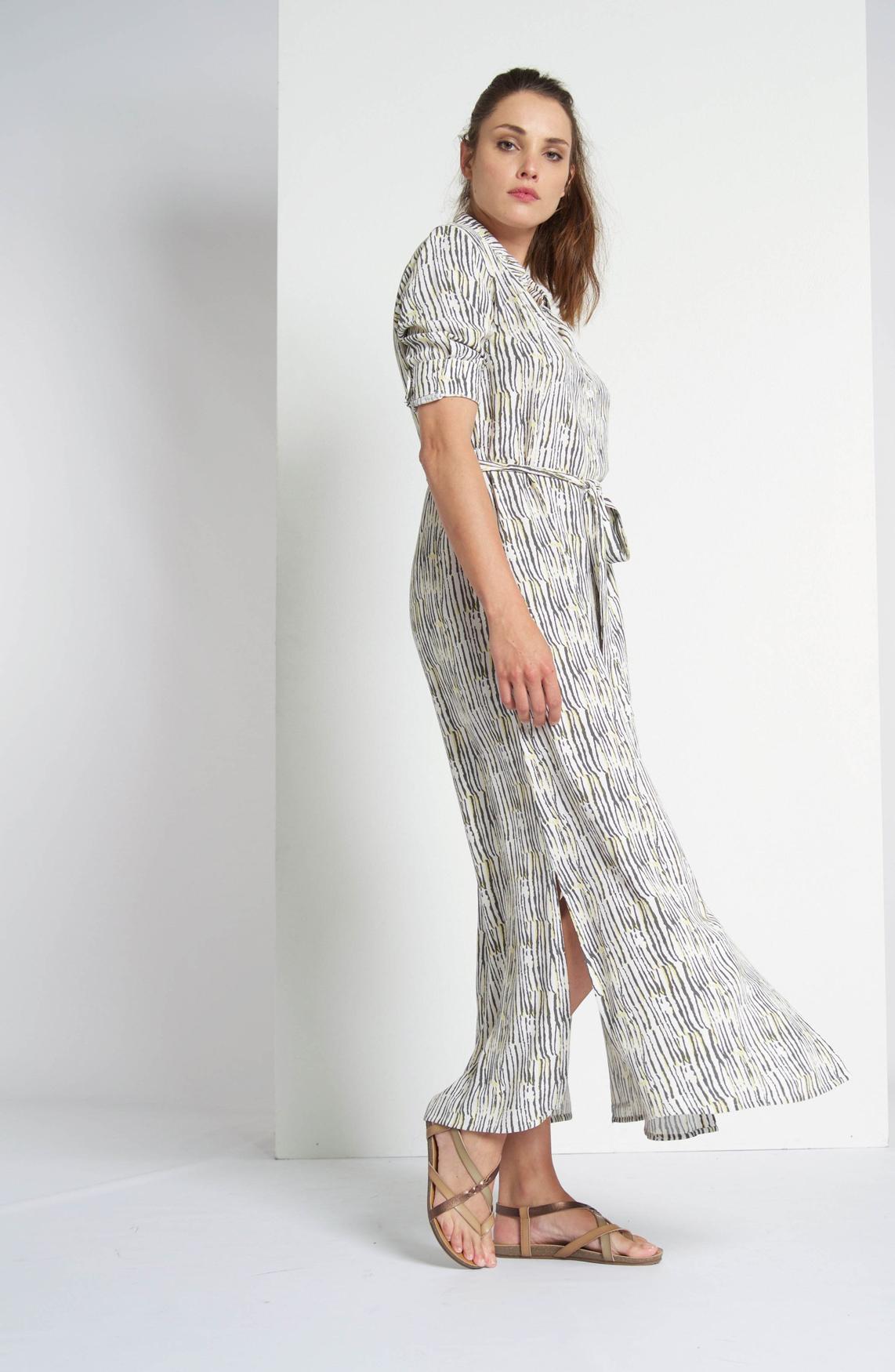 Moscow Dames Lange jurk met print wit