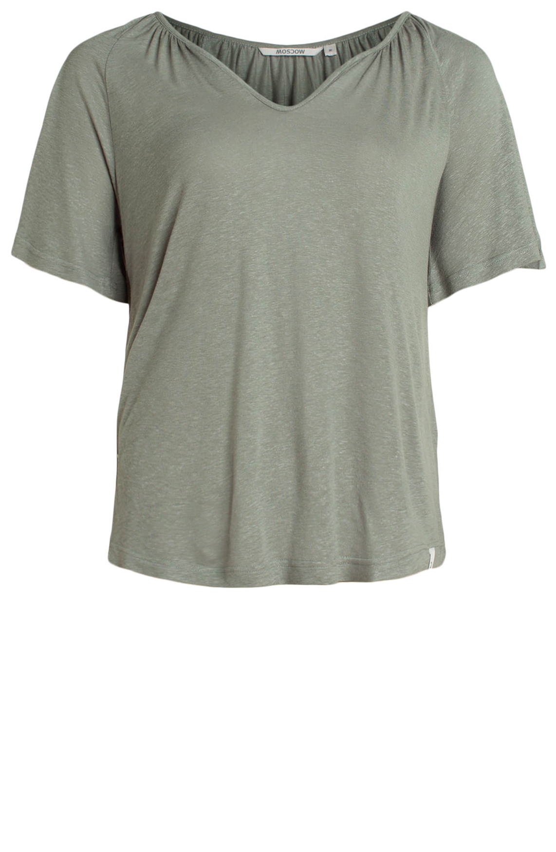 Moscow Dames Shirt with V-neck groen