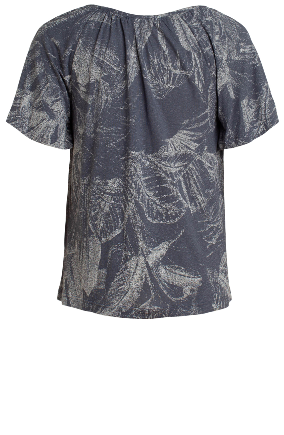 Moscow Dames Shirt met V-hals Blauw