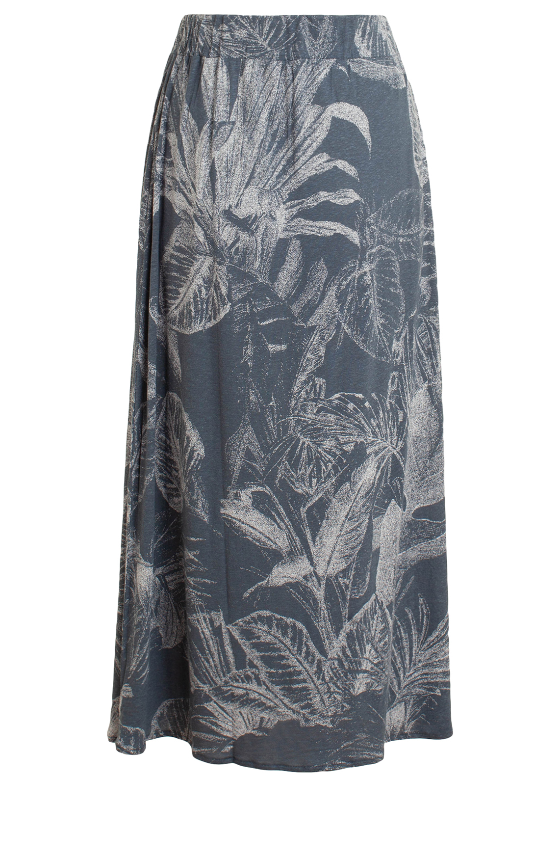 Moscow Dames Long skirt with leaf print Blauw