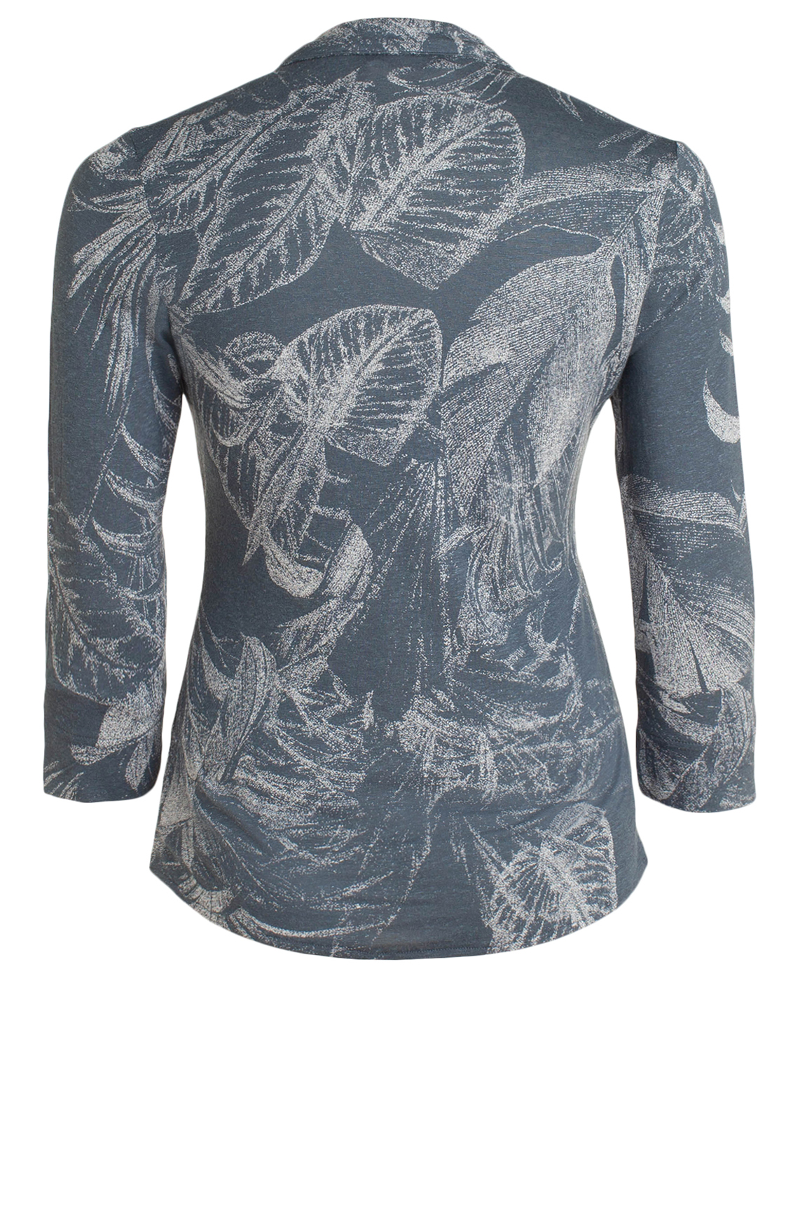 Moscow Dames Blouse with leaf print Blauw