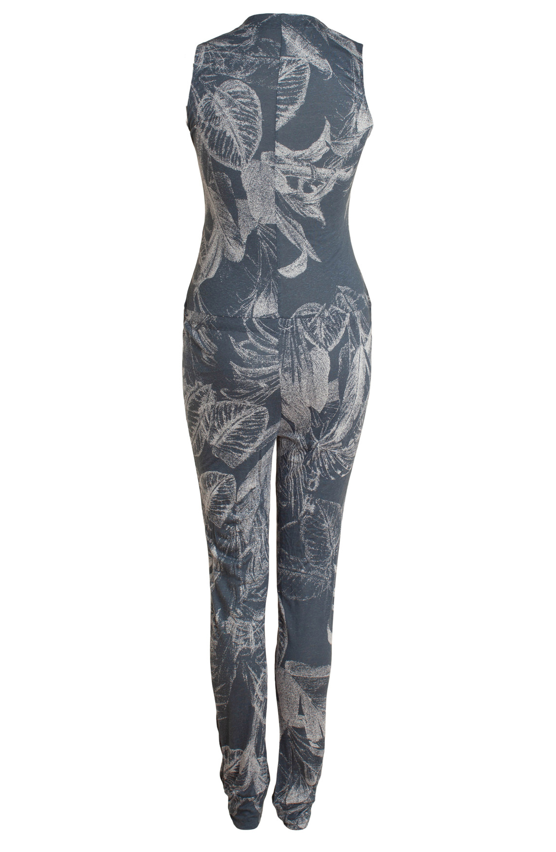 Moscow Dames Jumpsuit with leaf print Blauw
