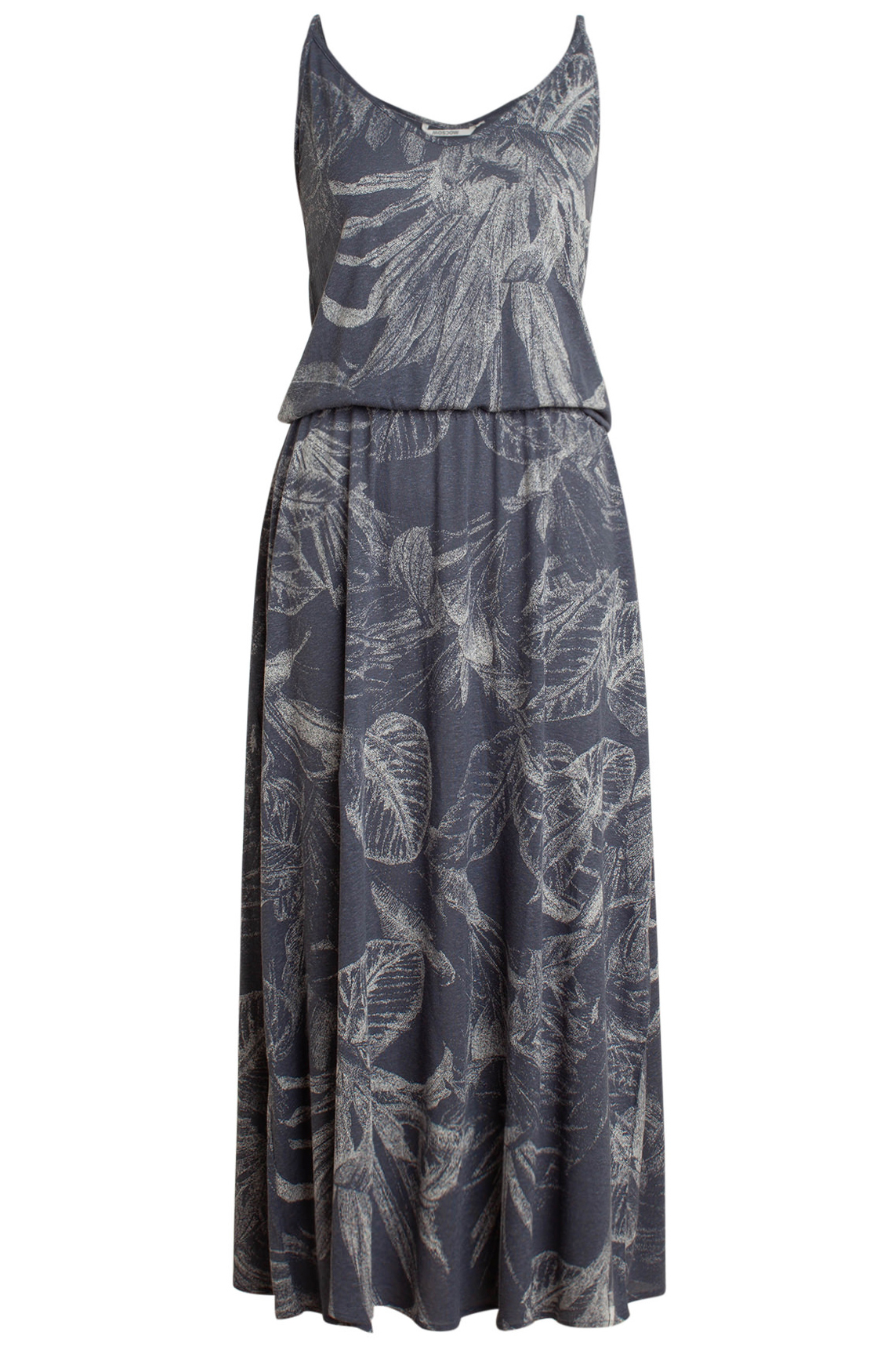 Moscow Dames Dress with leaf print Blauw