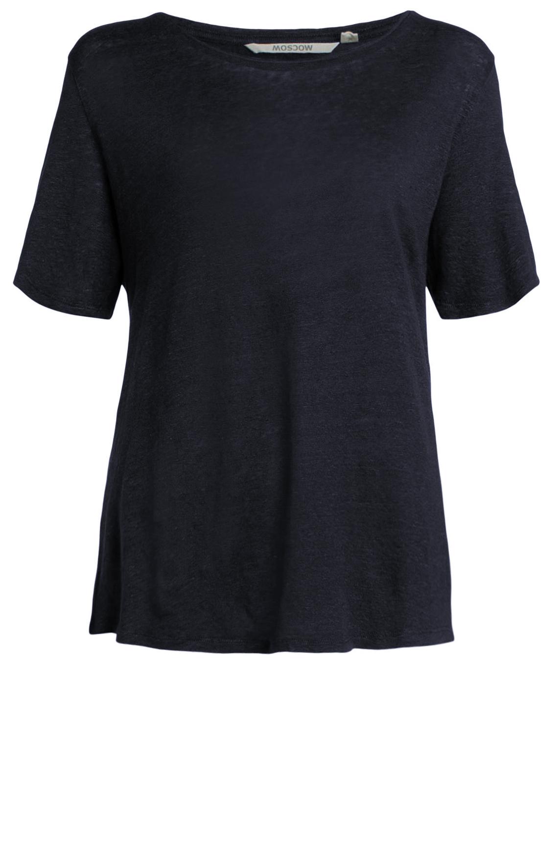 Moscow Dames Linnen shirt Blauw
