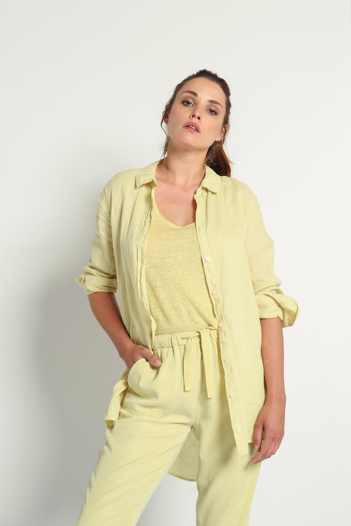 Moscow Dames Linen shirt geel