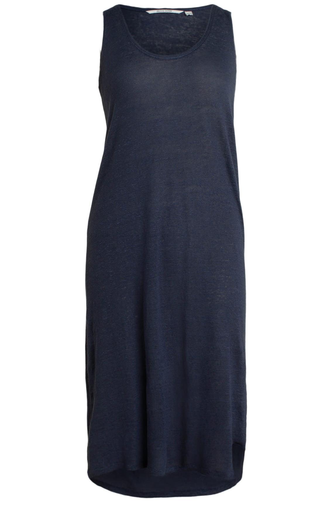 Moscow Dames Linen singlet dress Blauw