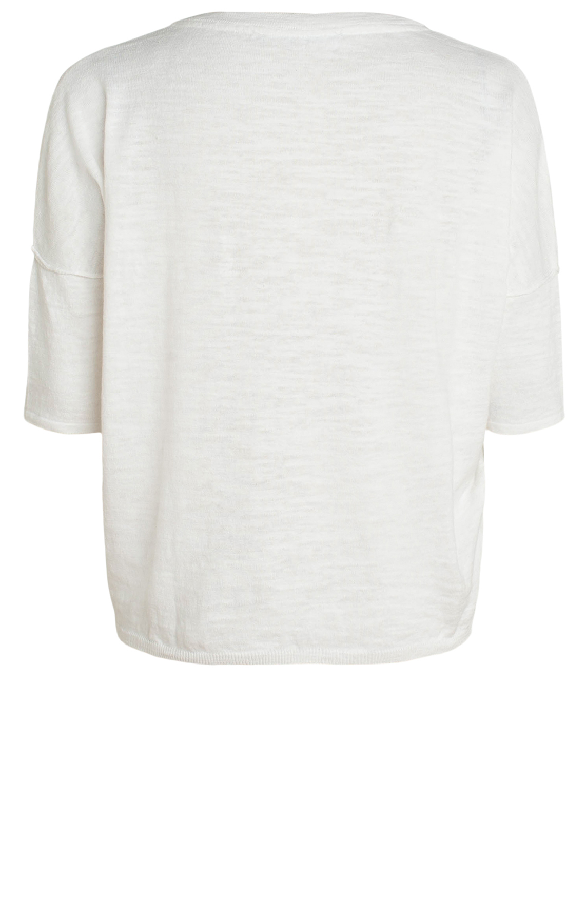 Moscow Dames Shirt met linnen wit